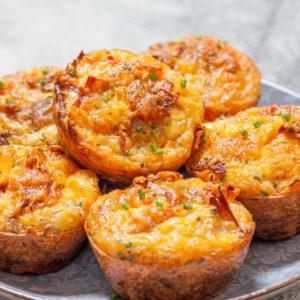 muffins au cheddar et au bacon