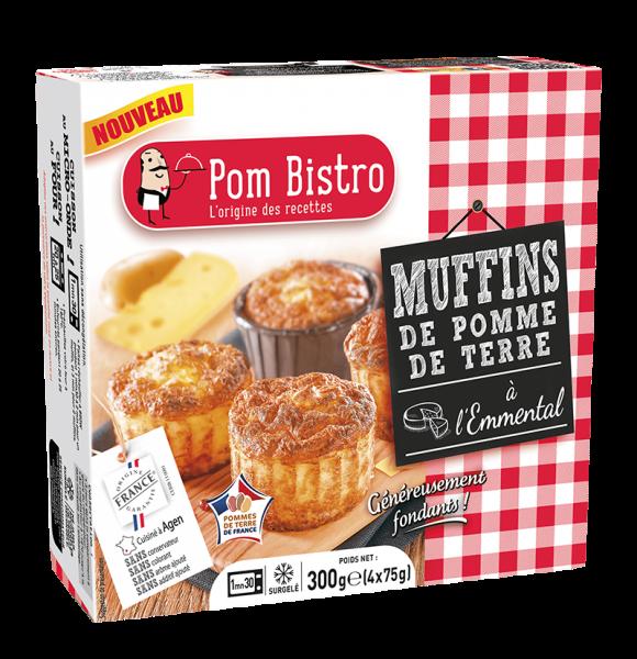 Muffins de pommes de terre à l'emmental Pom Bistro